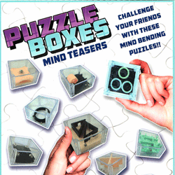 "Puzzle Boxes Mind Teasers 2"" Toy Capsules 250 pcs"