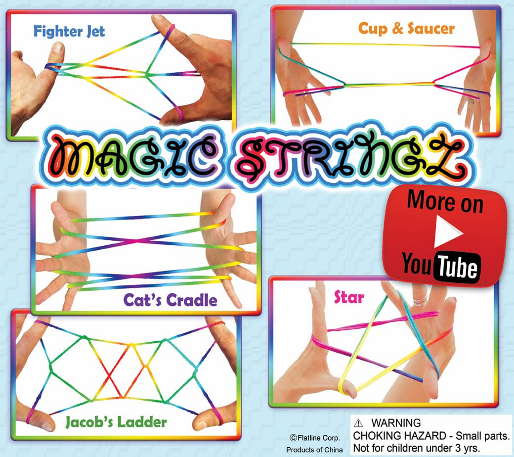 Rainbow Strings 2inch Toy Capsules 250 pcs