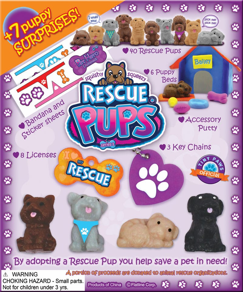 "Recue Pups Mix 1"" Toy Capsules 250pcs"