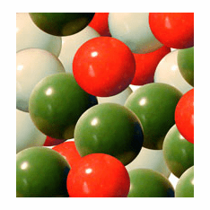 "Red White & Green 1"" Gumballs 850ct"