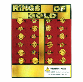 "Rings of Gold 1"" Toy Capsules  250pcs"