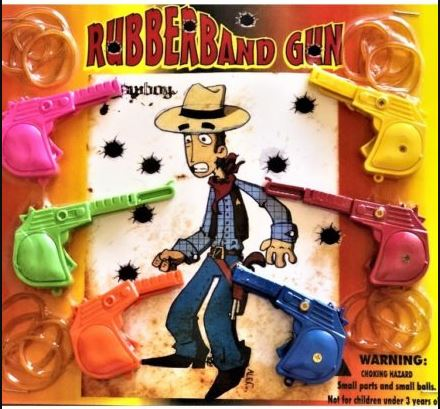 "Rubber Band Guns - Target Practice 2"" Toy Capsules 250 pcs"
