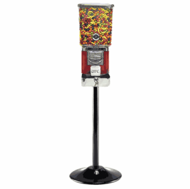 """Single Tough Pro Gumball Candy Machine with Stand & """"Secure Lock Cash Box"""""""