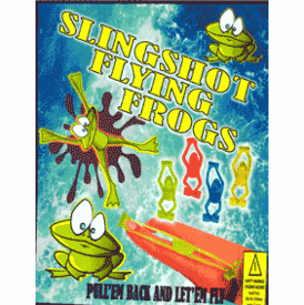 """Slingshot Flying Frogs 2"""" Toy Capsules 250 pcs"""