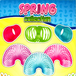 "Slinky Spring Collection 2"" Toy Capsules 250 pcs"