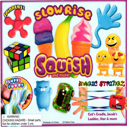 """Slow Rise Squish & More Toy Mix 2"""" Toy Capsules 250 pcs"""