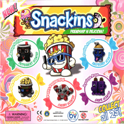 "Snackins Scented Pencil Toppers 2"" Toy Capsules 250 pcs"
