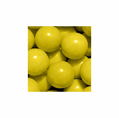 "Solid Yellow 1"" Gumballs 850ct"