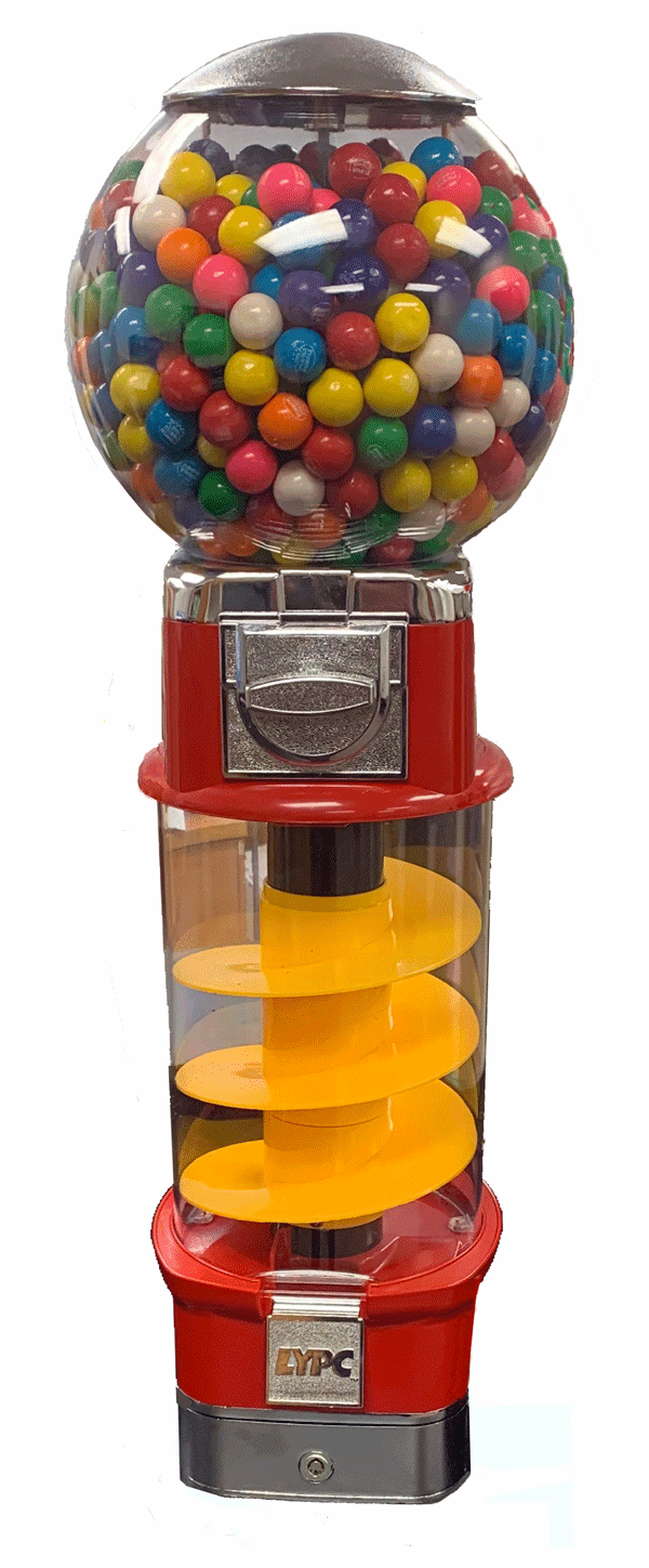 Spin & Whirl Gumball Machine 30 inches Tall