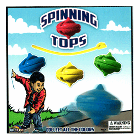 """Spinning Tops 2"""" Toy Capsules 250 pcs"""
