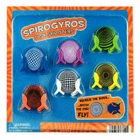 """Spiro Gyros Disk Shooters 2"""" Toy Capsules 250 pcs"""