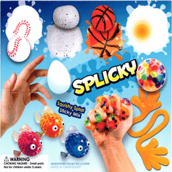 "Splicky Squishy Splat Sticky Mix 2"" Toy Capsules 250 pcs"