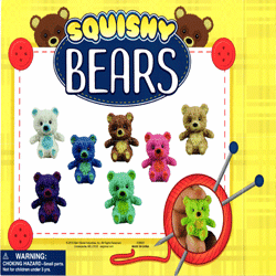 "Squishy Bears  2"" Toy Capsules 250 pcs"