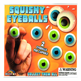 "Squishy Eyeballs 2"" Toy Capsules 250 pcs"