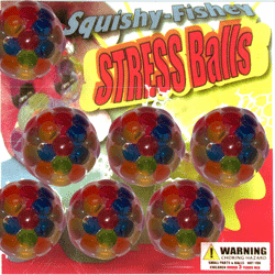 "Squishy-Fishy Stress Balls 2"" Toy Capsules 250 pcs"