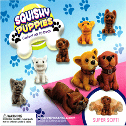 "Squishy Puppies 2"" Toy Capsules 250 pcs"
