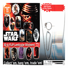 """Star Wars 3 D Lenticular Stickers 2"""" Toy Capsules 250 pcs"""