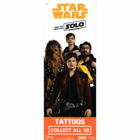 Star Wars SOLO FILM Tattoos 300pcs