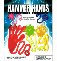 "Sticky Hammer Hands 1"" Toy Capsules 250pcs"