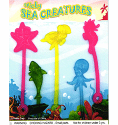 "Sticky Sea Creatures 1"" Toy Capsules 250pcs"