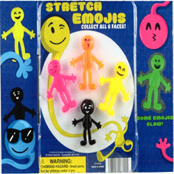 "Stretch Emojis 2"" Toy Capsules 250 pcs"