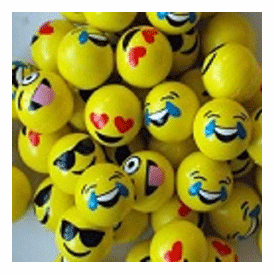 Super Balls 45mm Emoji 50 Balls per bag