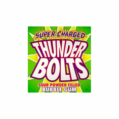 Thunderbolts Sour Candy Center Oak Leaf Gumballs 850ct