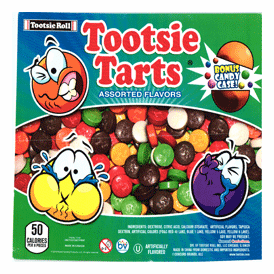 "Tootsie Tarts Candy In 2"" Capsules 250 pcs"