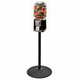Tough Classic Metal Gumball Machine with Retro Stand