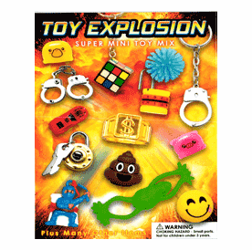"""Toy Explosion Super Min Toy Mix 1"""" Toy Capsules 250pcs"""