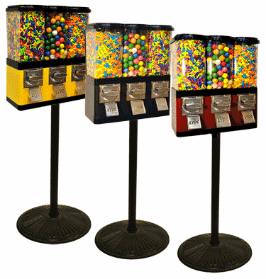 Triple Pod Candy and Gumball Machine (with stand)