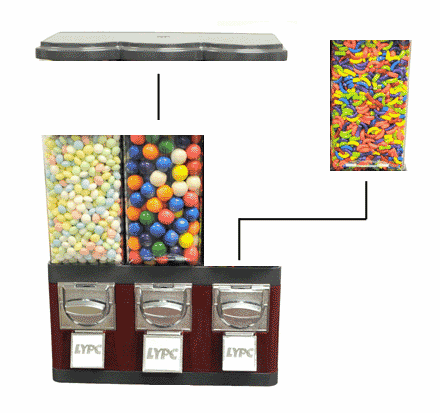 Triple Pod Candy Vending Machine (without Stand)