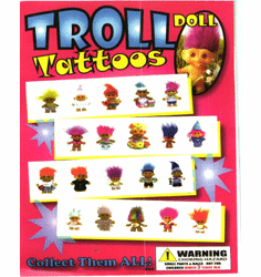"Trollo Doll Tattoos 1"" Toy Capsules 250pcs"