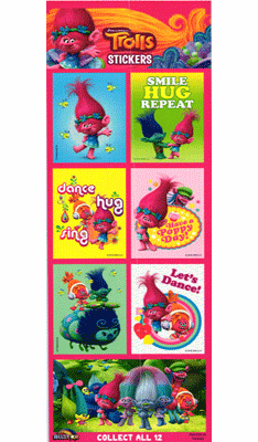 Trolls Dress Up Stickers 300pcs