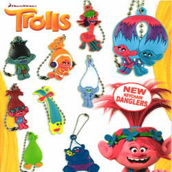 "Trolls Key Chain Danglers 2"" Toy Capsules 250 pcs"