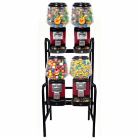 Ultra Classic Candy Toy Combo w/ Secure Cash Box 4 Unit Rack