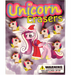 "Unicorn Erasers 1"" Toy Capsules 250pcs"