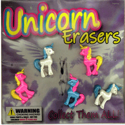 "Unicorn Erasers 2"" Toy Capsules 250 pcs"