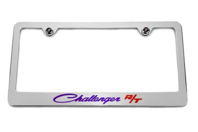 Challenger Classic R/T Plum Crazy Purple License Plate Frame