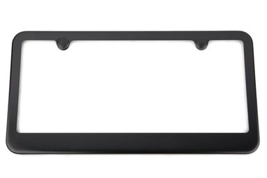 Black Satin License Plate Frame