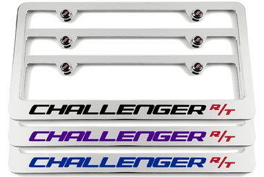 Challenger R/T Chrome License Plate Frame