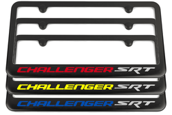 Challenger SRT Satin Black License Plate Frame