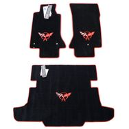 Chevrolet Corvette C5 Floor Mat Set 1997-2004  (Red Logo)
