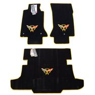 Chevrolet Corvette C5 Floor Mat Set 1997-2004 (Yellow Logo)