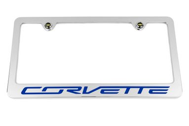 Chevrolet Corvette C7  Blue License Plate Frame