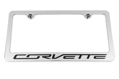 Chevrolet Corvette C7  Chrome License Plate Frame