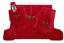 Chevrolet Corvette C7 Floor Mats Set - Adrenaline Red