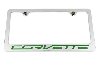Chevrolet Corvette C7 Green License Plate Frame