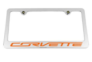 Chevrolet Corvette C7 Orange License Plate Frame