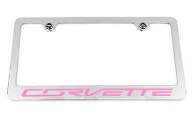 Chevrolet Corvette C7 Pink License Plate Frame